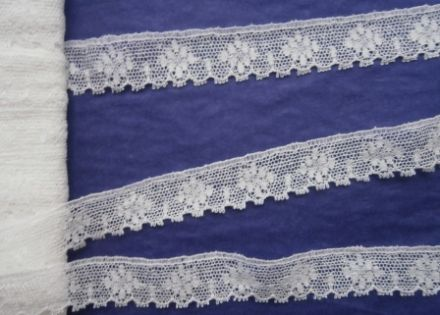 FC178 Off White / Ivory Cotton Nottingham Valenciennes Lace